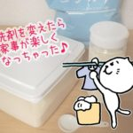 ダイソーの蓋が立つ容器に粉末洗濯石鹸(ピリカレ)を入れてみた